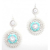 Crystal and Turquoise Earrings - Buy From ShopDesignSpark.com