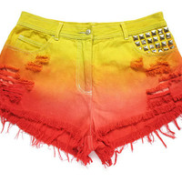 Etsy Transaction -          Ombre high waist shorts L