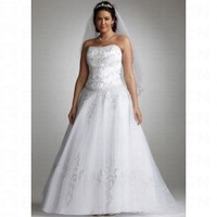 Strapless Tulle Ball Gown with Satin Bodice Style 9WG9927 - Wedding Dresses - Apparel