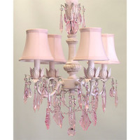 Cinderella Chandelier with Pink Crystals