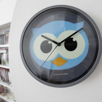 Kikkerland Design Inc   » Products  » Wall Clock + Glow In The Dark Owl