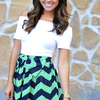 Never Felt Classier Skirt: Chevron | Hope&#x27;s