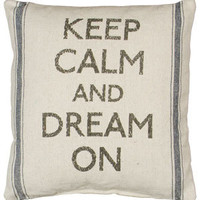 Keep Calm Linen Pillow | OceanStyles.com