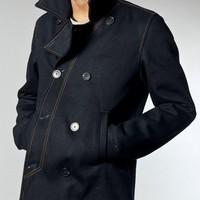 Edward Org. Dry Pea Coat Indigo - Nudie Jeans Co Online Shop