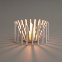 Tarantula Tea Light in white from DesignedMade | Made By Jonathan Krawczuk for Designed | £16.00 | Bouf