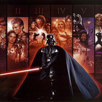 Star Wars - Mural Saga Collection I-VI Prints at AllPosters.com