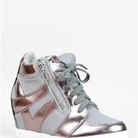 Soda FUND Metallic Wedge Sneaker | Shop Soda Shoes