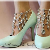 Chandelier Shoe Jewels 1 pr.Amazing New look to make any pair of Heels extra special, weddings,bridal, prom, parties, special occasions  SJ5