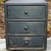 RUSTIC COUNTRY PRIMITIVE 3 DRAWER APOTHECARY CABINET SPICE BOX | JoyAndJoshua - Furniture on ArtFire