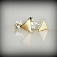 Tiny triangles  earrings by junedesigns on Etsy
