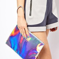 Holographic Clutch Bag