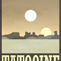 Tatooine Travel Poster Posters at AllPosters.com