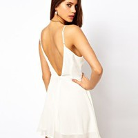True Decadence Skater Dress with Low Back at asos.com