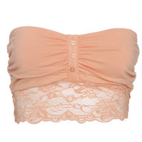 Button Front Bandeau Bra | Shop Accessories at Wet Seal