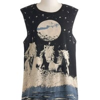 Mink Pink Under the Night Sky Top | Mod Retro Vintage T-Shirts | ModCloth.com