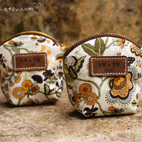 A Fairyland and Brown Leather / Pretty pouch with by GimCarry