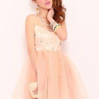 Retro Diamond Organza Dress S011210