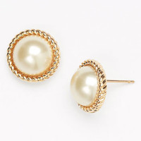 kate spade new york &#x27;seaport&#x27; faux pearl studs | Nordstrom