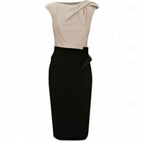 Bqueen Colour Block Dress K091E - Evening Dresses - Special Occasion Dresses - Apparel