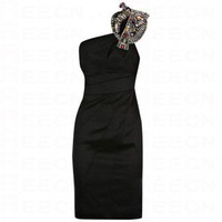 Bqueen Modern Beaded Dress Black K055H - Evening Dresses - Special Occasion Dresses - Apparel