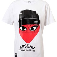 MISBHV | Comme Des Filles Cotton T-Shirt | Browns fashion & designer clothes & clothing