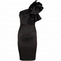 Bqueen Sculptural Frill Dress Black K088H - Evening Dresses - Special Occasion Dresses - Apparel