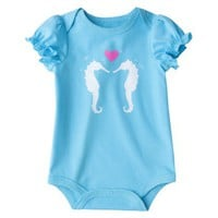 Circo Infant Girls&#x27; Lap Shoulder Bodysuit - Aqua