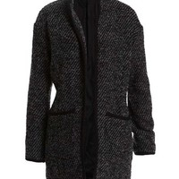 Chunky Tweed Knit Jacket  - Bardot