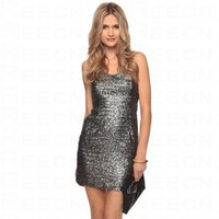 Bqueen Sequined Halter Dress F081S - Celebrity Dresses - Apparel