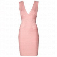 Bqueen Sleeveless Bandage Dress Pink H314F - Celebrity Dresses - Apparel
