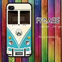 Blue VW minibus : Handmade case For Iphone 4/4s ,5 / Samsung S2,3,4