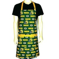 Green Bay Packers Apron / Full adjustable BBQ Style with Pocket