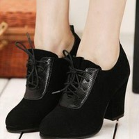 frosted high heels boots from Bright91