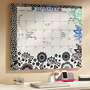 Bold Floral Calendar Dry-Erase Magnetic Board
