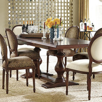 Vendome Double Pedestal Table | Ballard Designs