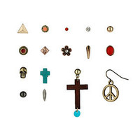 Cross Peace Skull Earring Pack