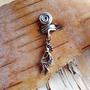 Kokopelli Silver Dread Charm Dreadlock Accessory Extension Accessories Dread Boho Bohemaian Hippie Bead