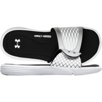 Under Armour Women's Ignite Slide - Black/White/Silver | DICK'S Sporting Goods