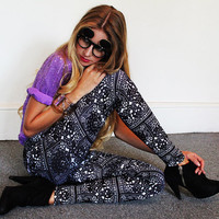 Leggings  Mexican Day Of The Dead Lace Print  S/M by Uptightso