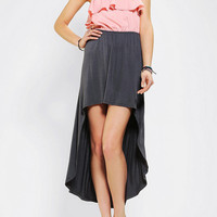 Sparkle &amp; Fade Strapless Ruffle-Top High/Low Dress
