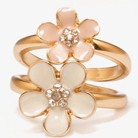 Lacquer Flower Ring Set | FOREVER 21 - 1038734856