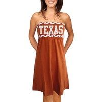 Texas Longhorns Ladies Burnt Orange Braided Dream Tube Dress