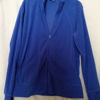 Blue Columbia Full Zip Fleece Jacket - Size Medium