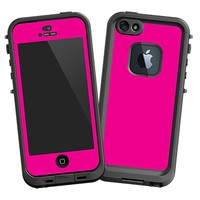 Hot Pink Skin  for the iPhone 5 Lifeproof Case by skinzy.com