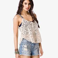 Boho-Style Crocheted Top