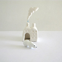 Polar Bear Factory - Miniature Ceramic Sculpture