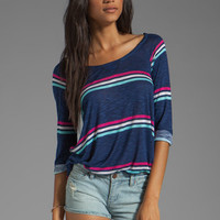 Splendid Hermosa Slub Stripe Top in Navy from REVOLVEclothing.com
