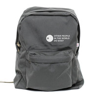 Backpack - Other People Exist - Classic School Style Backpack