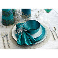 Christmas Place Settings: Teal &amp; Turquoise