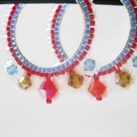 Hoop Earrings Beaded Hoop Earrings